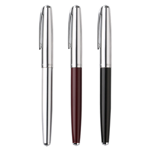 Image 2 - Hero 100 14K altın uçlu klasik dolma kalem otantik kalite Metal tüm çelik/yarı çelik üstün mürekkep kalem yazma hediye seti