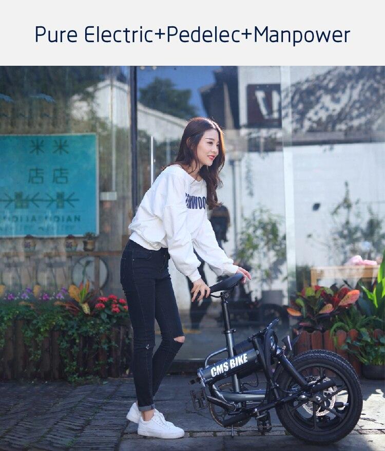 16'' lithium battery folding ebike adult electric bike city folding ebike with 36v 250w brushless motor 4