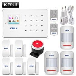 KERUI G18 inalámbrico hogar GSM sistema de alarma de seguridad DIY Kit de Control de aplicación con Sensor de movimiento de Dial automático alarma antirrobo sistema de