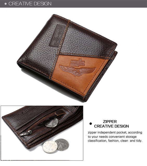 Hb534455fa61645828cbf3911945fc233g - GUBINTU Genuine Leather Men Wallets Coin Pocket Zipper Real Men's Leather Wallet with Coin High Quality Male Purse cartera