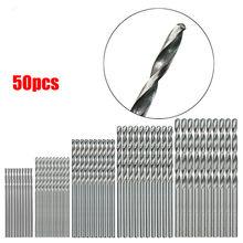 50/40 peças hss alta velocidade aço broca bits conjunto ferramenta de alta qualidade ferramentas elétricas conjunto acessórios para ferramenta giratória 0.6/1/1.5/2/2.5/3mm