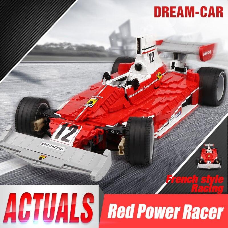 DHL 03023 Technic voiture jouets le rouge F1 course Sport voiture assemblée voiture modèle Kits blocs de construction briques enfants jouets cadeaux de noël