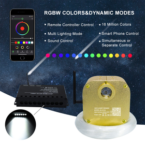 Image 2 - 16W RGBW Twinkle  Smart Bluetooth APP Fiber Optic Star Ceiling Kit Mixed 335/430pcs*(0.75+1.0+1.5mm) with Shooting Meteor Effect