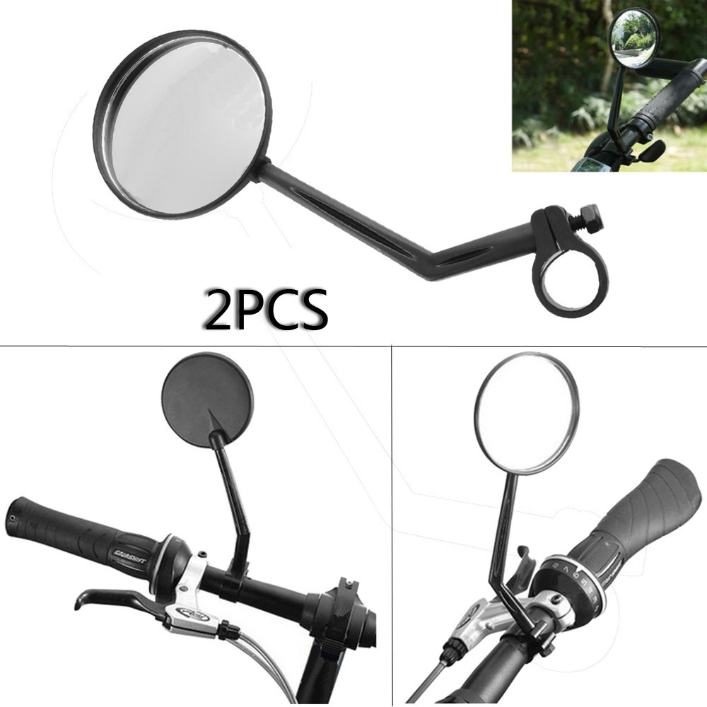2Pcs Cycling Bike Bicycle Handlebar Flexible Safe Rearview Reverse Mirror New US