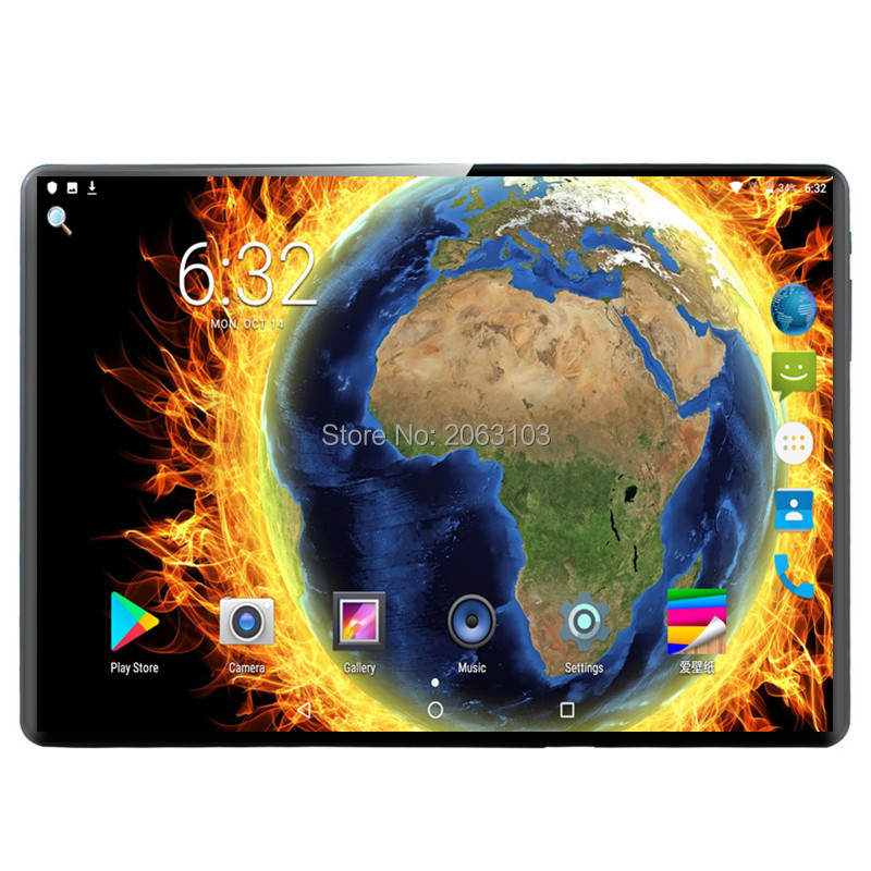 Deca Core 6GB+128GB Tablet PC 8MP 6000mAh 1920*1200 IPS Tempered Glass 2.5D Android 9.0 Tablets 10.1 +Gifts