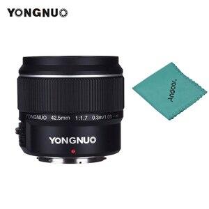 Image 1 - YONGNUO YN 42,5mm F 1,7 M Große Blende AF/MF Objektiv Standard Prime Objektiv für M4/3 berg DSLR Kameras für GF8 GF9 Olympus E PL9