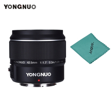 YONGNUO YN42.5mm F1.7M Grande Apertura AF/MF Lens Standard Prime Lens per M4/3 Mount DSLR Telecamere per GF8 GF9 Olympus E PL9