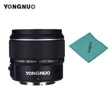 YONGNUO YN42.5mm F1.7M duża przysłona AF/MF obiektyw standardowy obiektyw główny do lustrzanki cyfrowe M4/3 do GF8 GF9 Olympus E PL9