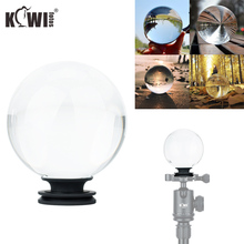 """Kivi 3.15 """"/80mm fotoğraf şeffaf cam Lens kristal top ile çıkarılabilir 1/4"""" 20 dişi Rhread standı kristal dekoratif top"""
