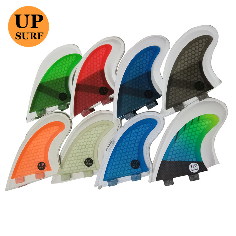 Upsurf Logo FCS Fins G3/G5/GL With Screws And Key Fins Bag Surfboard Fin Honeycomb Fibreglass Fins FCS Quilhas Fins