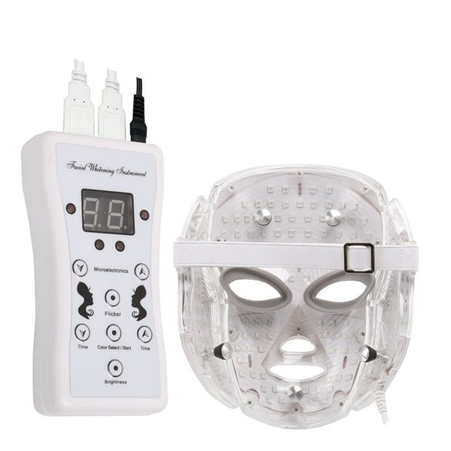 7 Colors LED Facial Mask Spectrometer Led Therapy Mask Light Therapy Acne Neck Face Mask Korean Skin Care OPP Bag Pack 3