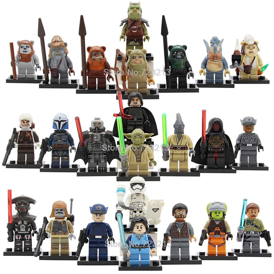 8pcs Star Wars Figure Set Ewok Warrior Watto Chief Chirpa Wicket Logray Tokkat Gamorrean Paploo Teebo Building Blocks Toys
