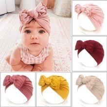 2020 Cute Baby Hat Newborn Soft Baby Girl Hat Turban Infant Toddler Baby Cap Bonnet Headwraps Kids Beanie Headband Accessories