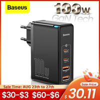 Baseus 100W GaN USB Typ C Ladegerät PD QC Quick Charge 4,0 3,0 USB-C Typ-C Schnelle Lade ladegerät Für iPhone 12 Pro Max Macbook
