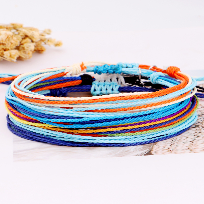 1pcs Women's Beautiful Colorful Hand Knitted Wave Charm Bracelet Set Bohemian Vintage Charm Party Jewelry Gifts