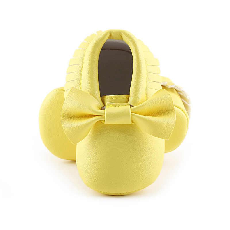 Bebek ayakkabıları yenidoğan bebek erkek kız İlk yürüteç PU Sofe Sole prenses ilmek Fringe Toddler bebek beşik ayakkabı rahat Moccasins