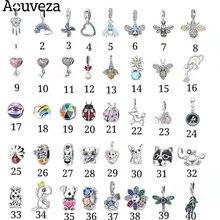 Nova primavera arco-íris libélula série animal contas pingente caber original pandora encantos pulseiras de prata para a moda feminina jóias