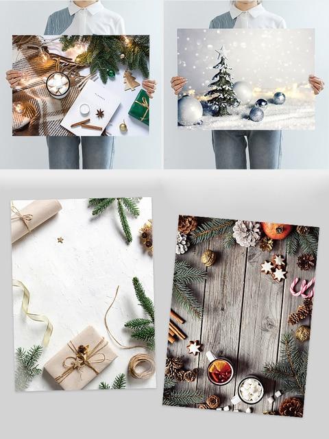 חג המולד תמונה ירי רקע קישוטי פריטים 2 צדדי 3D תמונה נייר לוח עבור מקצועי צילום רקע אבזרי
