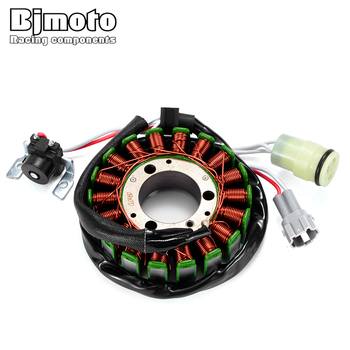 BJMOTO For Yamaha Grizzly 125 Hunter YFM 125 G/GH Motorcyle Ignition Stator Coil Generator Alternator Engine Charge Magneto Coil