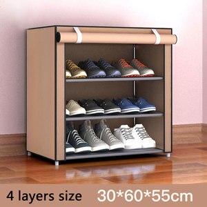Image 3 - Simple Non woven Cloth Fabric Shoe Cabinet Multi layer Assembly Shoe Rack Folding Dustproof Shoe Storage Rack Shelves