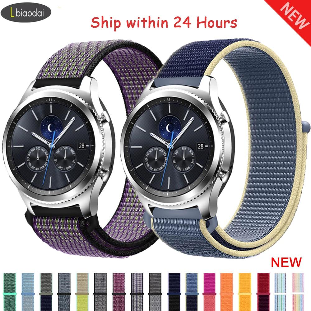 20mm 22mm Watch Band For Samsung Galaxy Watch 46mm 42mm Gear S3 Frontier Active2 Nylon Correa Bracelet Huawei Watch Gt 2 Strap 1