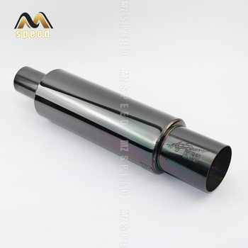 Free shipping accessories Automobile exhaust pipe muffler stainless steel plated black exhaust pipe straight exhaust 89mm цена 2017