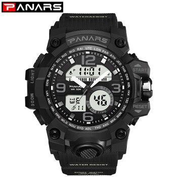 Relojes deportivos de estilo G para hombre, relojes digitales de cuarzo analógicos con pantalla Dual, relojes militares impermeables para nadar, relojes masculinos