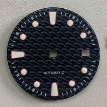 29mm Wave Pattern Watch Dial for Swiss Movement 2824 2 2836 Japanese Movement 2815 8200 Watch Repair Parts Accessories