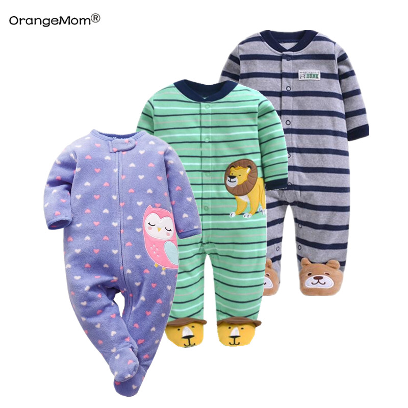 Orangemom Official Store Newborn Baby Boys Spring Baby Romper Girls Romper Infant Fleece Jumpsuit For Kids New Born Baby Clothes