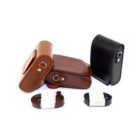 PU Leather Camera Case For Sony DSC RX100 RX100 RX100II RX100 II RX100M2 DSC RX100II HX20 HX30 WX500 Hard Case Shoulder Bag