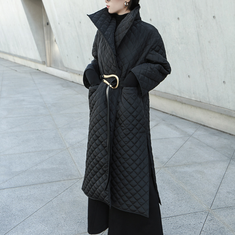 Stylish Long Cotton Padded Coat