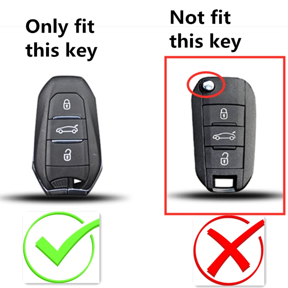 3 Button Remote Key Fob Case Shell For PEUGEOT 3008 For Citroen C4 Accessorie