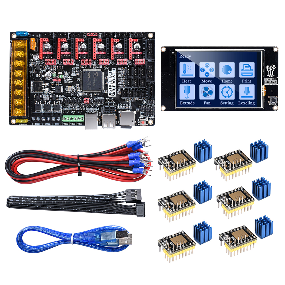 BIGTREETECH SKR PRO V1.1 32 Bit WIFI Control Board 3D Printer Parts Vs MKS Gen V1.4 With TFT 35 TMC2208 A4988 TMC2130 Driver