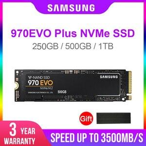 Image 1 - 삼성 SSD 970 EVO Plus 250GB 500GB 1 테라바이트 NVMe M.2 2280 NVMe 내장 SSD 솔리드 스테이트 하드 디스크 SSD PCIe 3.0x4, NVMe 1.3 노트북