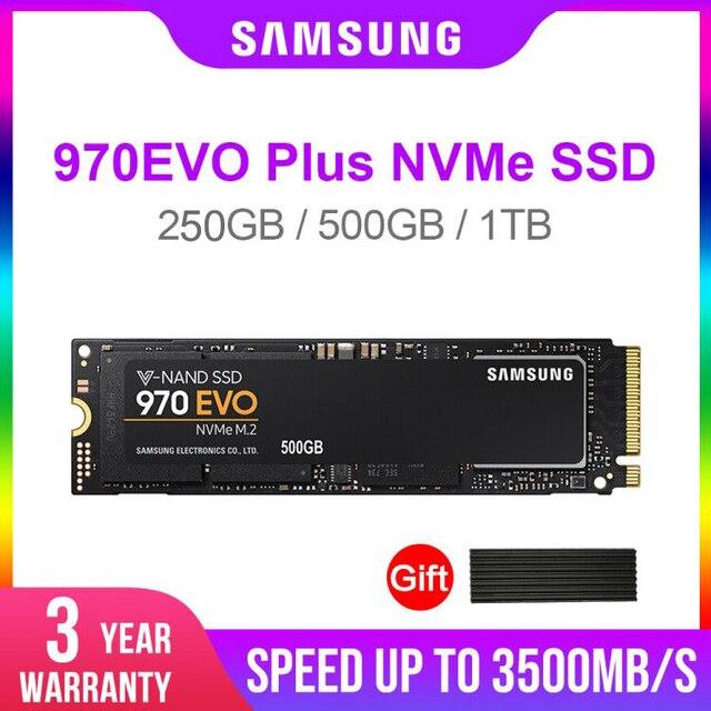 삼성 SSD 970 EVO Plus 250GB 500GB 1 테라바이트 NVMe M.2 2280 NVMe 내장 SSD 솔리드 스테이트 하드 디스크 SSD PCIe 3.0x4, NVMe 1.3 노트북