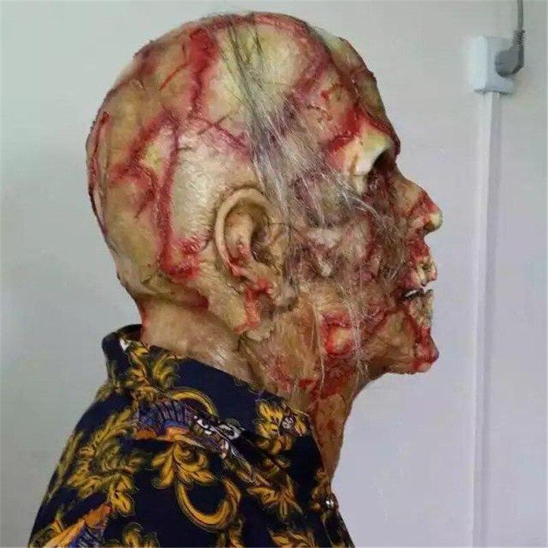 Image 5 - Halloween Horror maska Zombie maski Party Cosplay krwawe obrzydliwe Rot twarz straszny Masque Masquerade Mascara Terror Masker lateksMaski imprezoweDom i ogród -