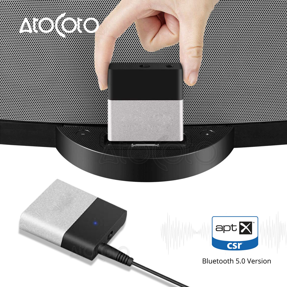 Bluetooth Music Receiver For iPod iPhone 30-Pin For Audi Benz BMW BT1