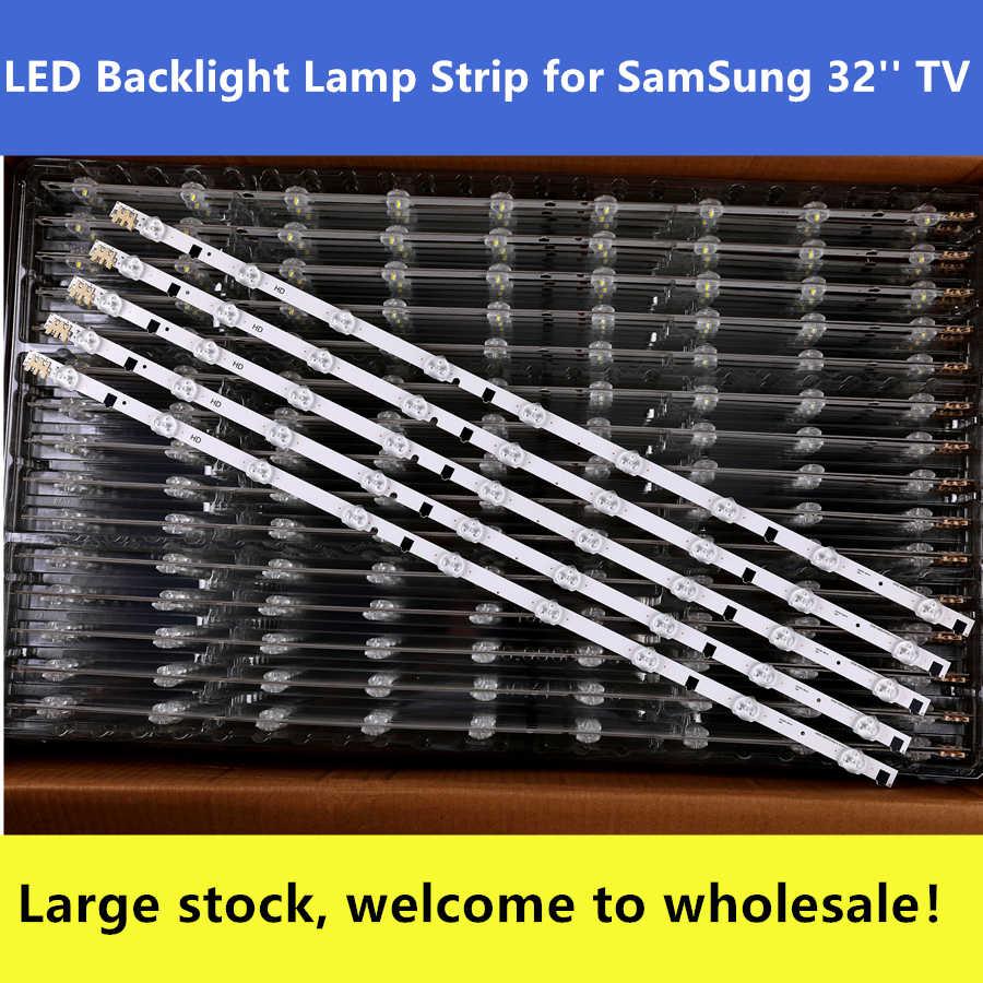 Novo Kit 5 peças 9 LEDs 650 milímetros tira CONDUZIDA para Samsung UE32F5300 D2GE-320SC0-R3 2013SVS32H BN96-25300A 26508B 26508A BN96-25299A