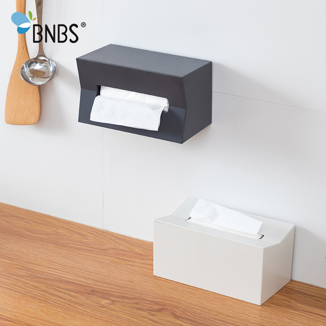 BNBS Kitchen tissue box Cover Napkin Holder For Paper Towels Boxes For Napkins Tissue Dispenser Wall Mounted Container For Paper