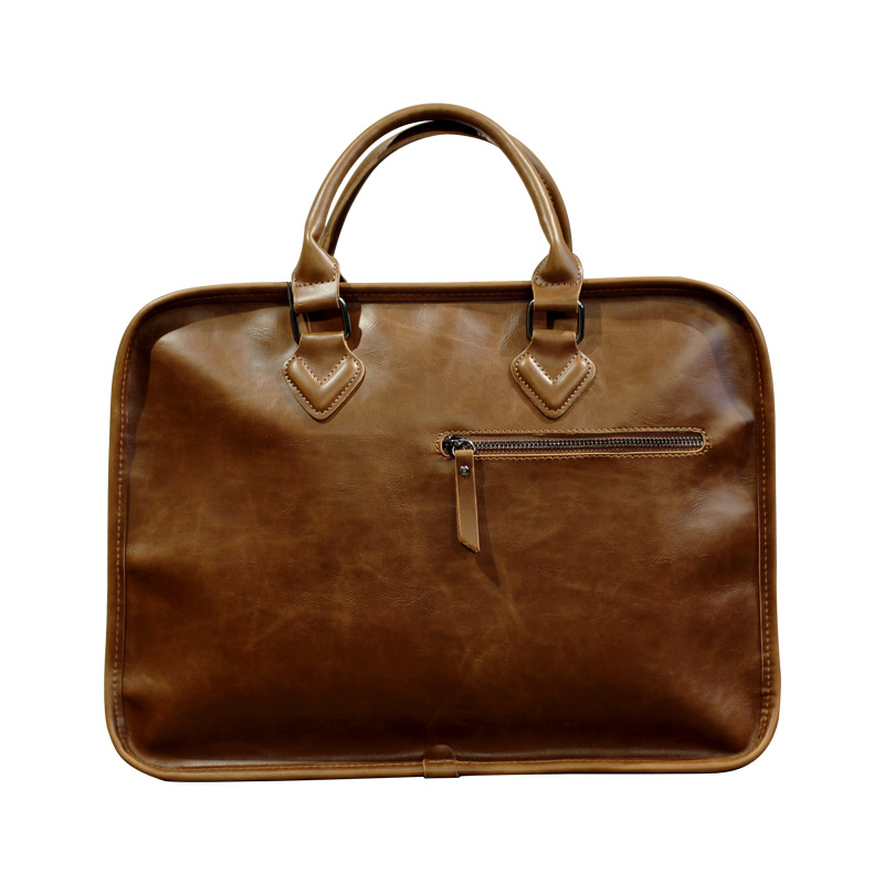 Genuine Leather Men's Bag Leather Men's Handbag Style Briefcase Computer Bags Box Man Shoulder Bag  GN-SB-nsfmgw