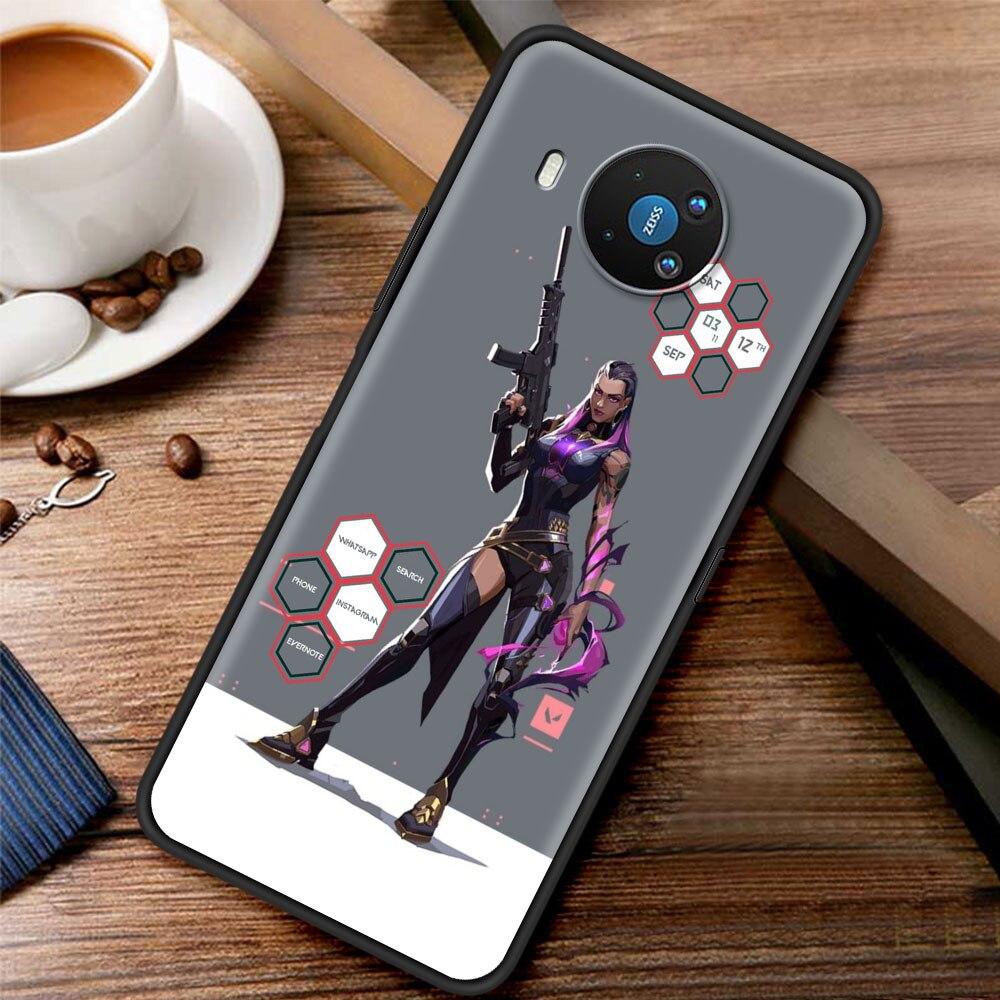 Shooting Game Valorant Silicone Case Funda For Nokia 2.2 2.3 3.2 4.2 7.2 1.3 5.3 8.3 5G 2.4 3.4 C3 C2 Tenen 1.4 5.4