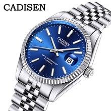 Cadisen Mannen Mechanische Horloge Topmerk Luxe Automatische Horloge Business Rvs Waterdicht Horloge Mannen Relogio Masculino