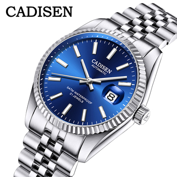 CADISEN Men Mechanical Watch Top Brand Luxury Automatic Business Stainless Steel Waterproof relogio masculino - discount item  50% OFF Men's Watches