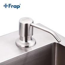 Frap Kitchen Soap Dispensers Deck Mounted Hand Soap Dispenser Stainless Steel Liquid Soap Bottle Kitchen Accessories