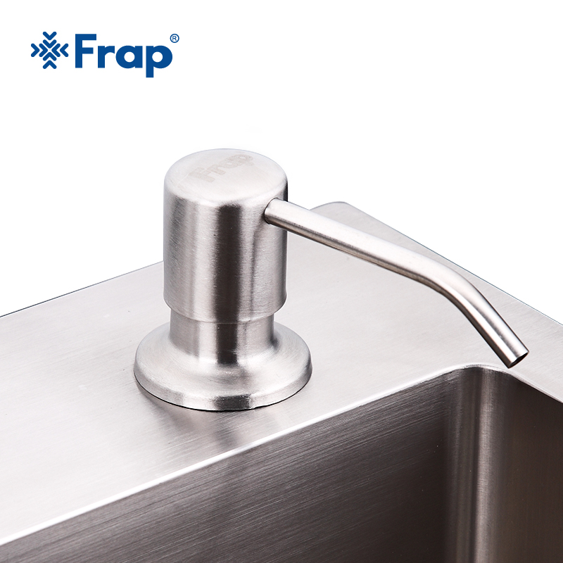 Frap Kitchen Soap Dispensers Deck Mounted Hand Soap Dispenser Stainless Steel Liquid Soap Bottle Kitchen Accessories
