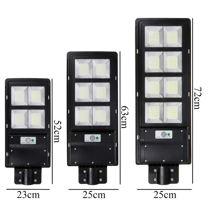 300W 600W 900W IP65 LED Solar Street Light Radar Motion Wall Lamp no/ with Remote Control for Villas Garden Yard and Pathway 5