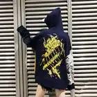 NoEnName Null Coréen sweatshirts à capuche de couple Patchwork Bleu Femmes Lâche Automne Rue Bf Tendance Personnalité Sweat À Capuche Harajuku grande taille 50cs - 3