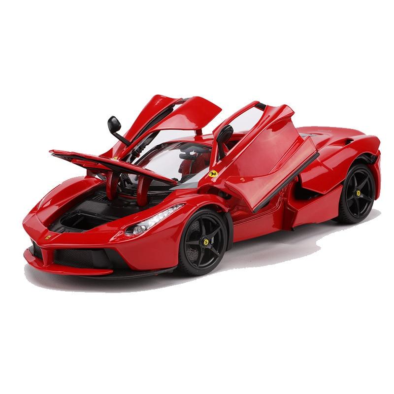 Ferrari Laferrari Sports Car 1 18 Alloy Diecast Model Cars Simulation Miniature Cars Metal Mini Car Decoration Collection Toys