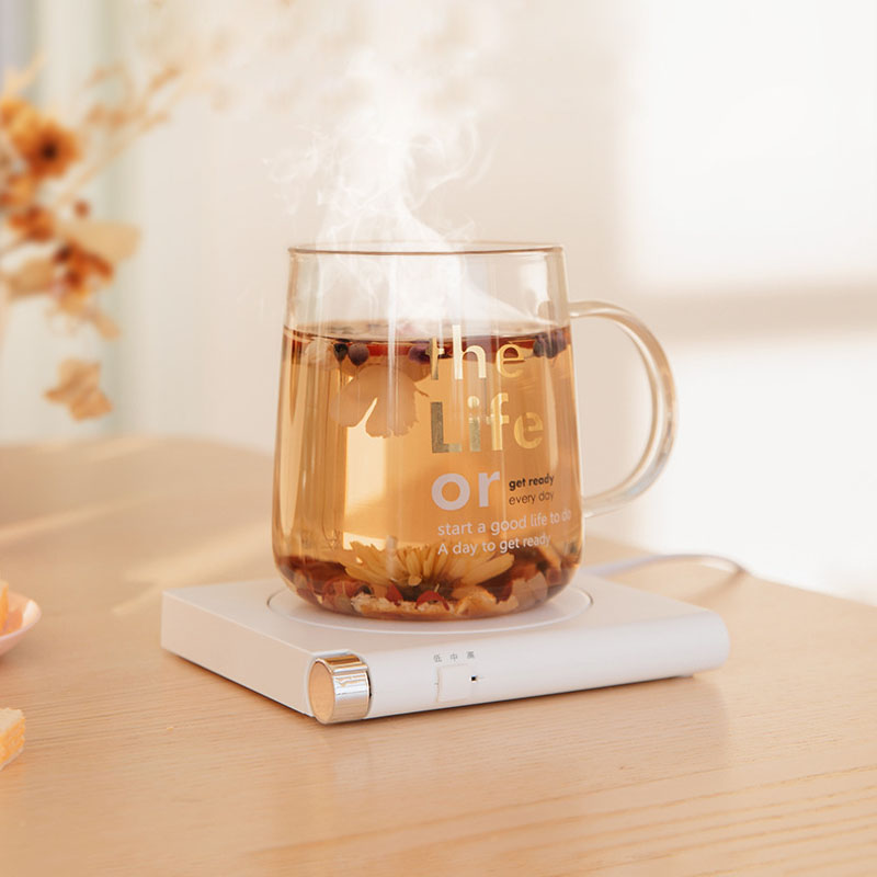 Cup Warmer Heater Tea Makers Heating Coaster 3 Gear USB Charge Desktop Heater For Coffee Milk Tea Warmer Pad With Timing