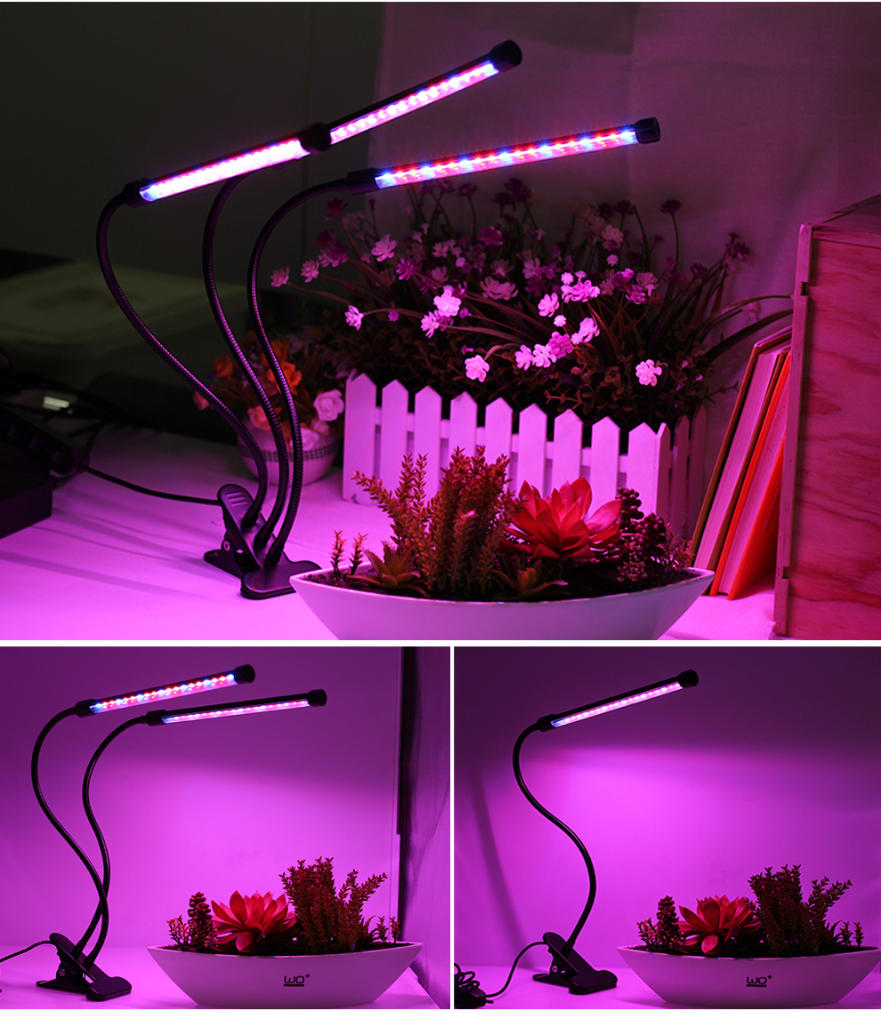 Full Spectrum Phytolamps DC5V USB LED Grow Light 3W 9W 15W 18W 27W 30W 45W Desktop Clip Phyto Lamps for Plants Flowers Grow Box